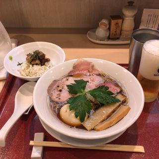 味玉紀州鴨そば,鴨とり飯(燃えよ麺助)