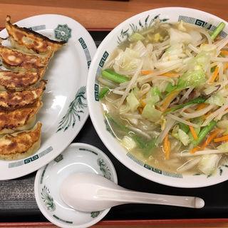 野菜たっぷりタンメン+餃子セット(日高屋 大森東口店 )