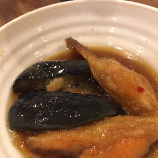 シャケのハラスと茄子の揚げ浸し(づめかん 葛西店 )