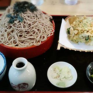 野菜かきあげ天ざる(三浦屋 )