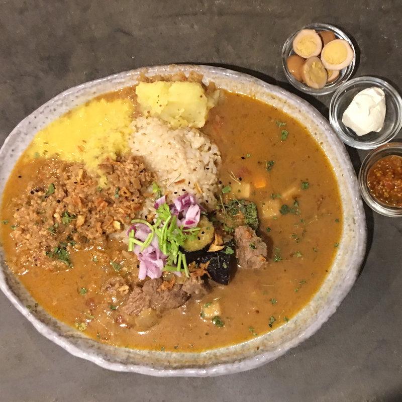 ラム肉のカレー + ミニキーマ