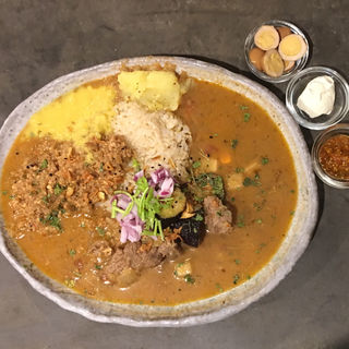 ラム肉のカレー + ミニキーマ(ツキノワカレー )
