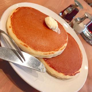 銅板で焼くホットケーキ(ヒイヅルcafe (ヒイヅルカフェ))