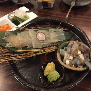 活いかの盛り合わせ(北海料理 古艪帆来 (コロポックル))