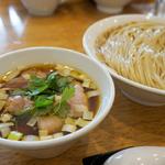 鶏と豚のつけ麺(はや川)