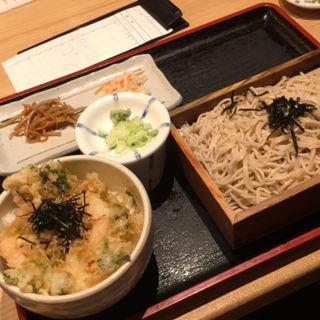 かき揚げ丼とざる蕎麦(山葵 (わさび))