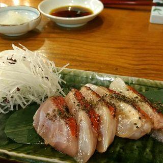 炙り金目鯛の刺し身(蓮池 丸万寿司 )