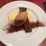 ベルギー産生チョコスティック仕立て黒糖アイス