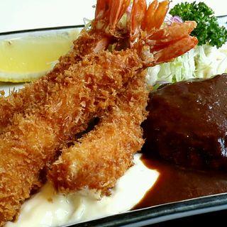 海老フライハンバーグ定食(小六庵 )