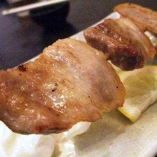 結美豚バラ串焼き(大衆割烹 なわのれん)