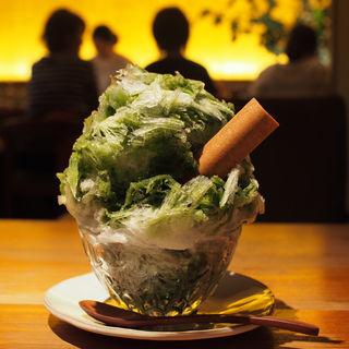 awayuki/天然氷のかき氷 抹茶宇治金時(祇園NITI (ニチ))