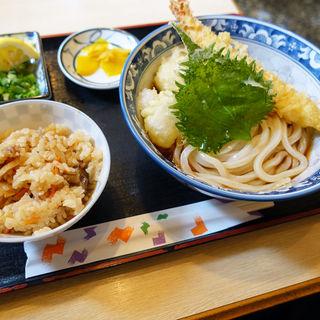 天ぷらぶっかけ定食(釜ひろ )