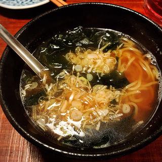 魚だしスープのラーメン(魚哲)