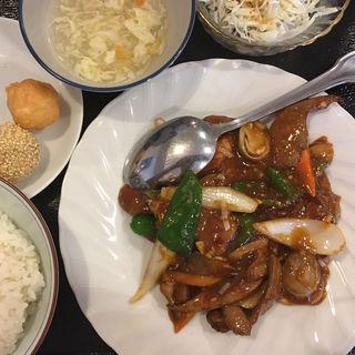 日替わりランチ レバーの四川炒め(中華料理 川菜 (チュウカリョウリ カワナ))