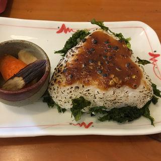 そば味噌焼きおにぎり(そば屋 けん豆 )