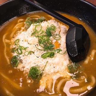釜玉チーズカレーうどん(楽 RAKU SUPA店 (ラク))