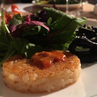 Anisサラダ イカ墨と塩雲丹の焼きリゾット(Restaurant Anis (レストラン アニス))