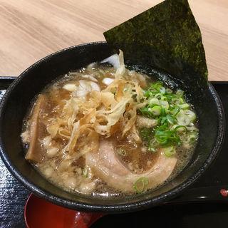 センザン醤油玉ねぎラーメン背脂太麺(淡路ハイウェイオアシス )