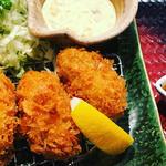 広島産かきフライ定食(4個盛り)