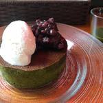 京都宇治抹茶のパンケーキ