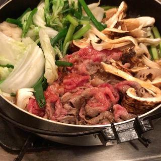 松茸のすき焼き(かぶら )