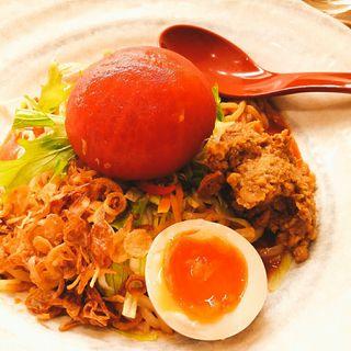 トマト丸ごとキムチ冷やし麺(みそ&トマトらーめん 田所商店)