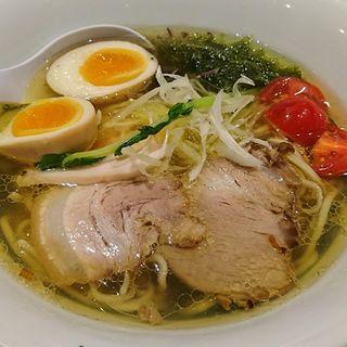 特製塩旨味出汁そば(ソラノイロ Japanese soup noodle free style 本店)
