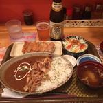 いわまセット(ケバブカレー&ショウガ餃子)(いわま餃子)