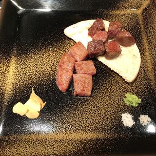 紫檀コース 肉料理(鉄板焼 山海 )