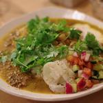 マトンキーマ&焼豆腐のカレー(カチュンバル・ライタのせ) パクチー大盛り(パクチー )
