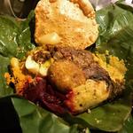 スリランカカレーのバナナリーフ包み(アプサラ)