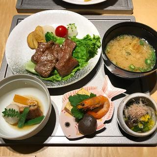 飛騨牛焦がし醤油ステーキ御膳(や満登)