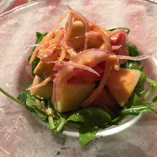 桃と水茄子 フルーツトマトのサラダ(モン・シルクロ )