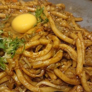 牛肉のカレー焼うどん(玉子付) (お好み焼き 狸狸亭 なんば店 )