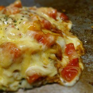 フレッシュトマトとチーズのお好み焼(お好み焼き 狸狸亭 なんば店 )