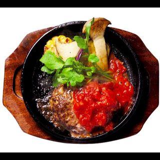 ジュージューA5バーグセット+サラダ・スープ・ライス(焼肉 醍醐 銀座店)