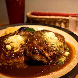 Wハンバーグ(山本のハンバーグ 渋谷食堂)