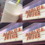 プレーンのバナナジュース