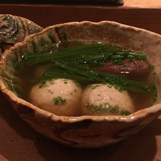穴子のつみれ 睡蓮菜 冬瓜 椎茸 小鍋(虎白 (こはく))