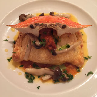 Pie package crab source of yellowtail(ラ コッコラ (La coccola))