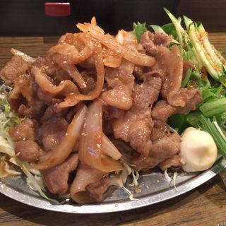 豚しょうが焼定食(二万馬力 )