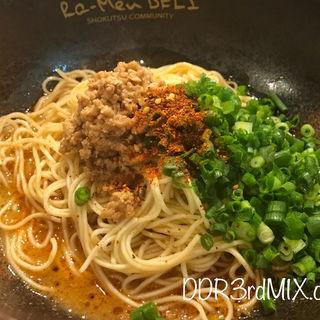 汁なし担々麺(The鉄板マン)