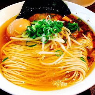 あじ玉塩そば(麺や食堂)