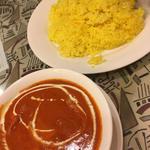 日替わりカレーセット(バターついチキンマサラ&サフランライス)(インドキッチン )