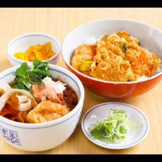 お値打ち定食(ヒレカツ丼+きしめん)(総本家えびすや本店)