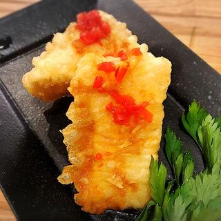 厚揚げの紅生姜醤油(ISOGAMI FRY BAR (イソガミ フライ バル))