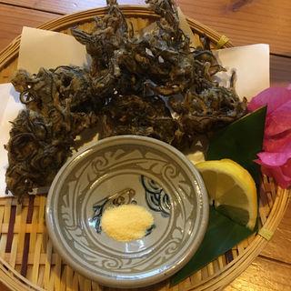 もずくの天麩羅(島料理 結 小浜島店)