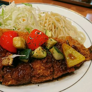 旬野菜バルサミコソースの秋刀魚フライ(キッチンジロー ニュー新橋店)