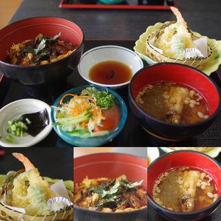 穴子丼と天婦羅セット(道の駅 みつ )