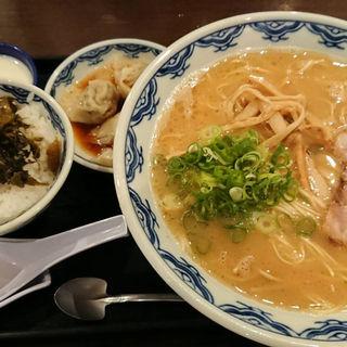 高菜ごはんらーめんセット(博多麺房 赤のれん 丸の内店 (はかためんぼうあかのれん))